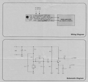 Schematic for Mic Pre-amp