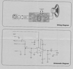 Schematic for Mini Amp